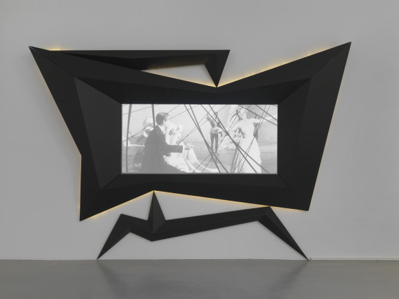 Julian Goethe: Kontakt, 2005, MDF wood, lightnings, Ca. 250 x 400 x 20 cm, © the artist, Photo A. Burger,Zurich